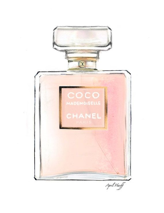 e484d4b44 COCO Mademoiselle Chanel Perfume Illustration | Fashion Drawing, Wall Art…