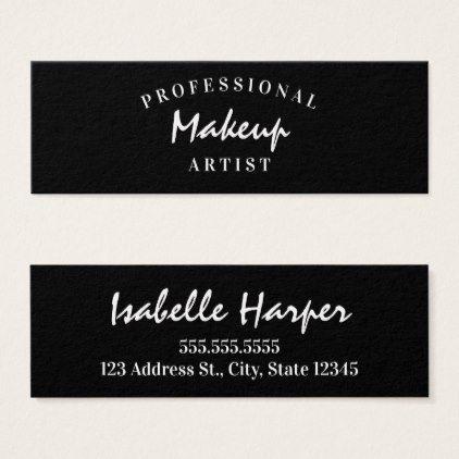 Modern Professional Makeup Artist Business Cards
