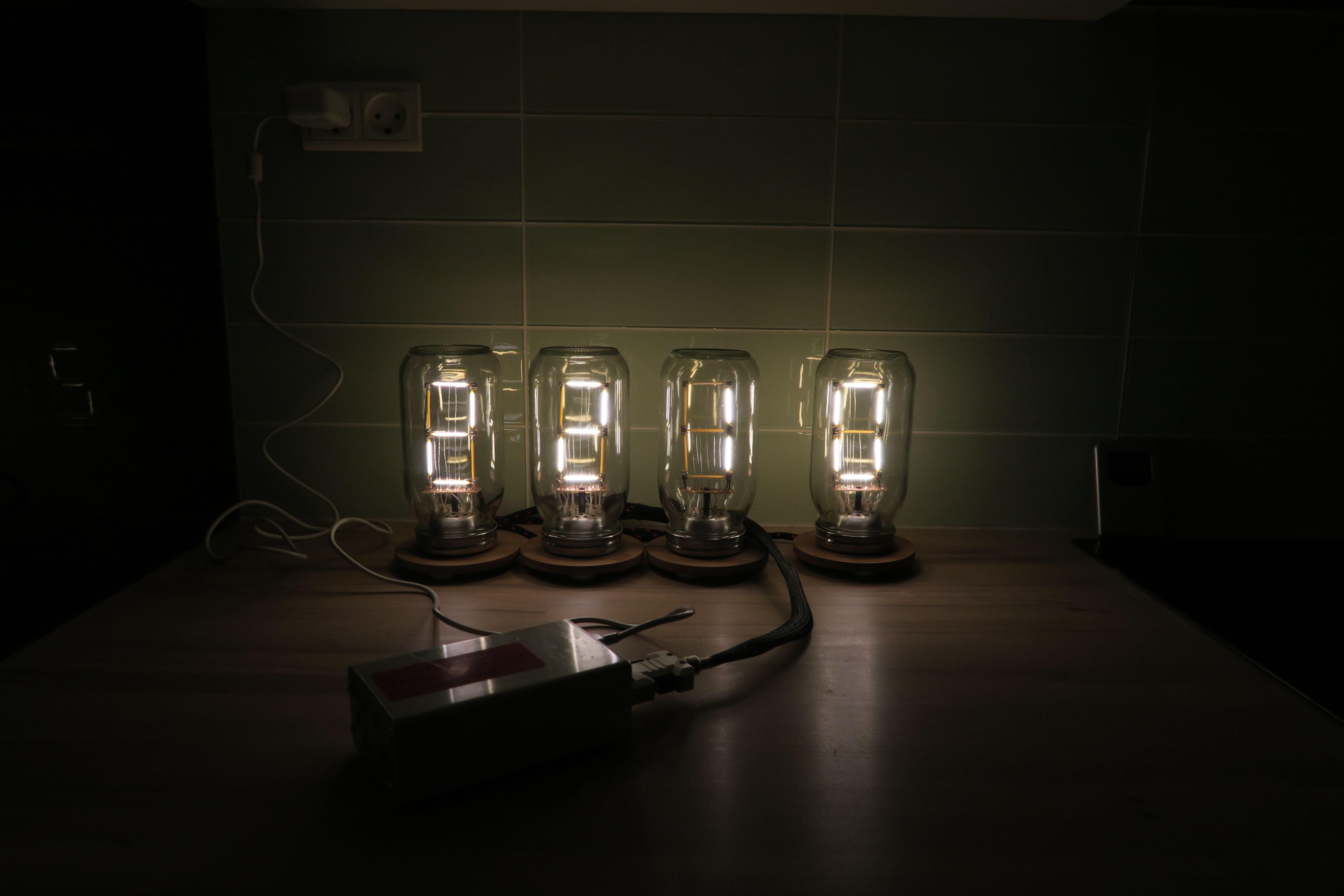 LED filament arduino clock | DIY electronics in 2019