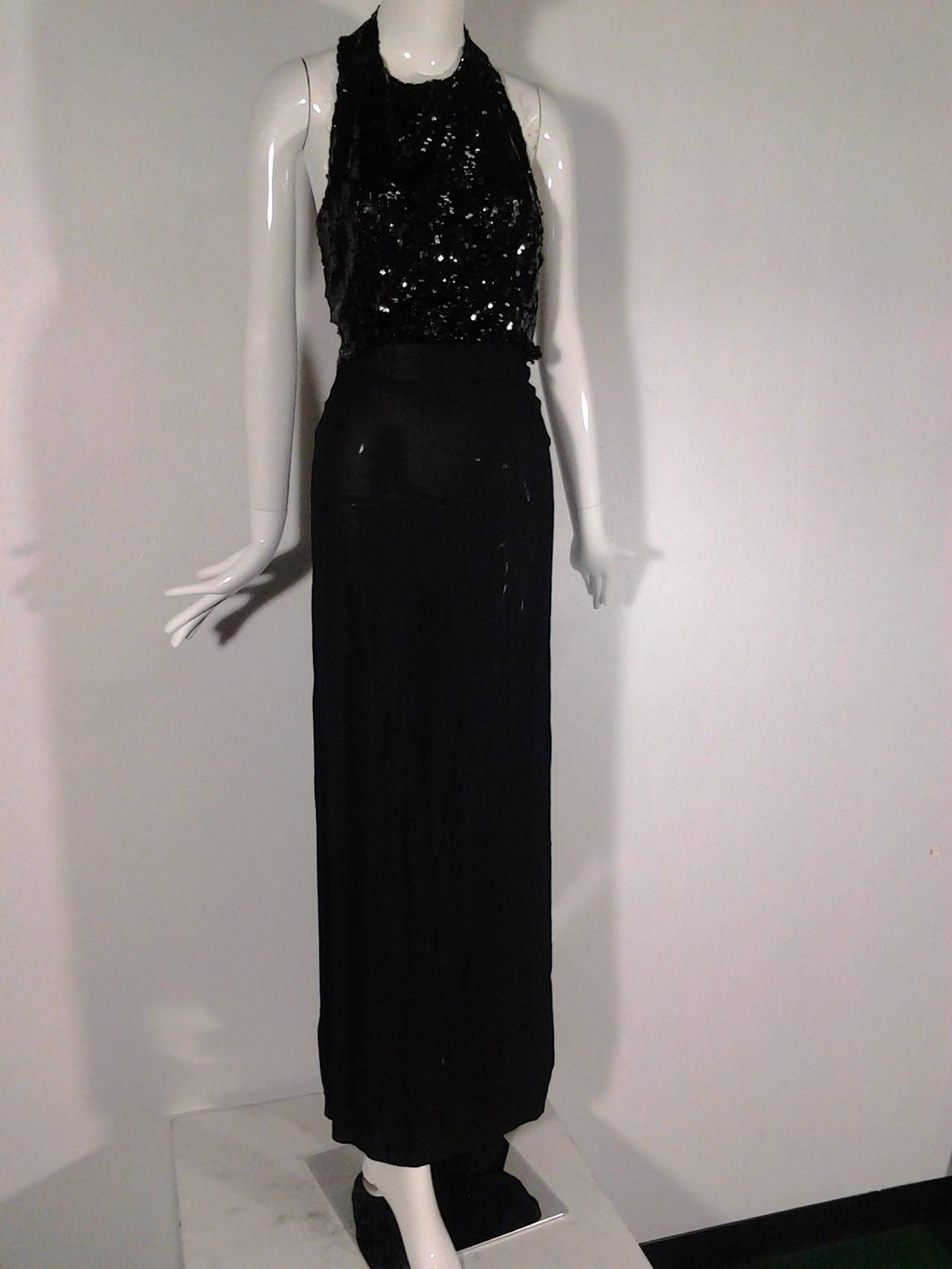 615f45c04dc 1stdibs 1930S Sequin Gown Racer Back Evening Gown