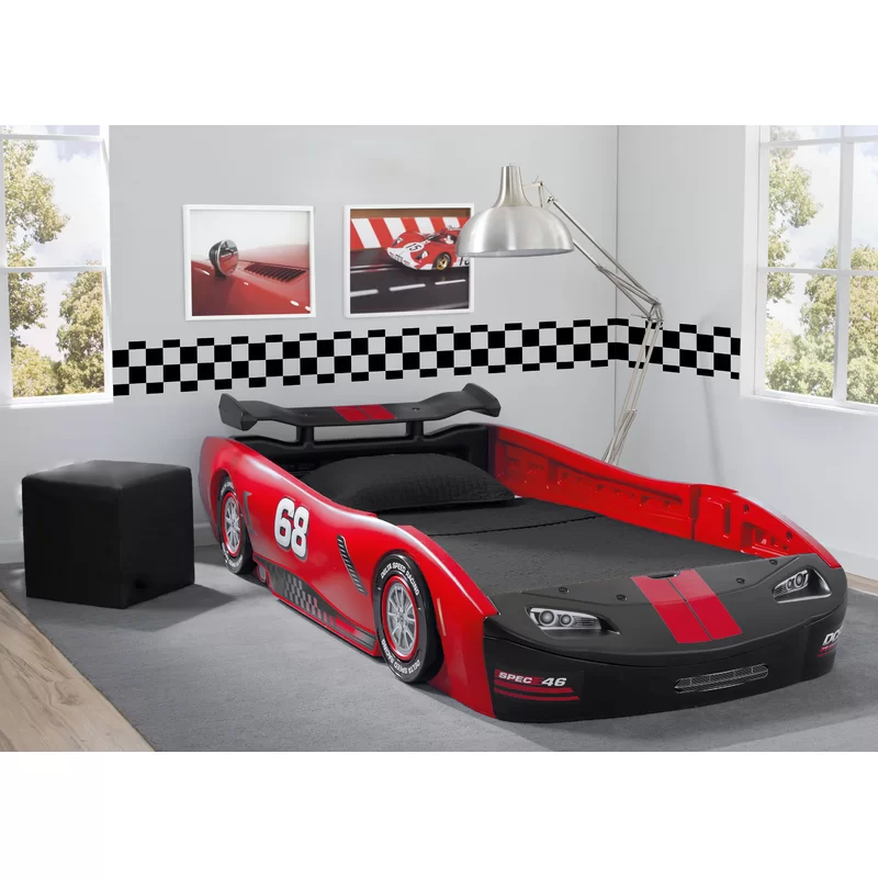 Zion Turbo Twin Car Bed In 2020 Twin Car Bed Kids Car Bed Race Car Bed
