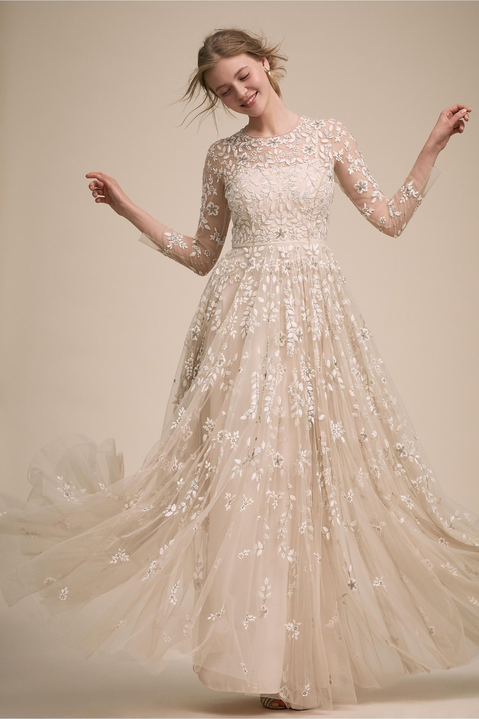 BHLDN s Golden Hour Gown in Champagne 04dc6b40a78c