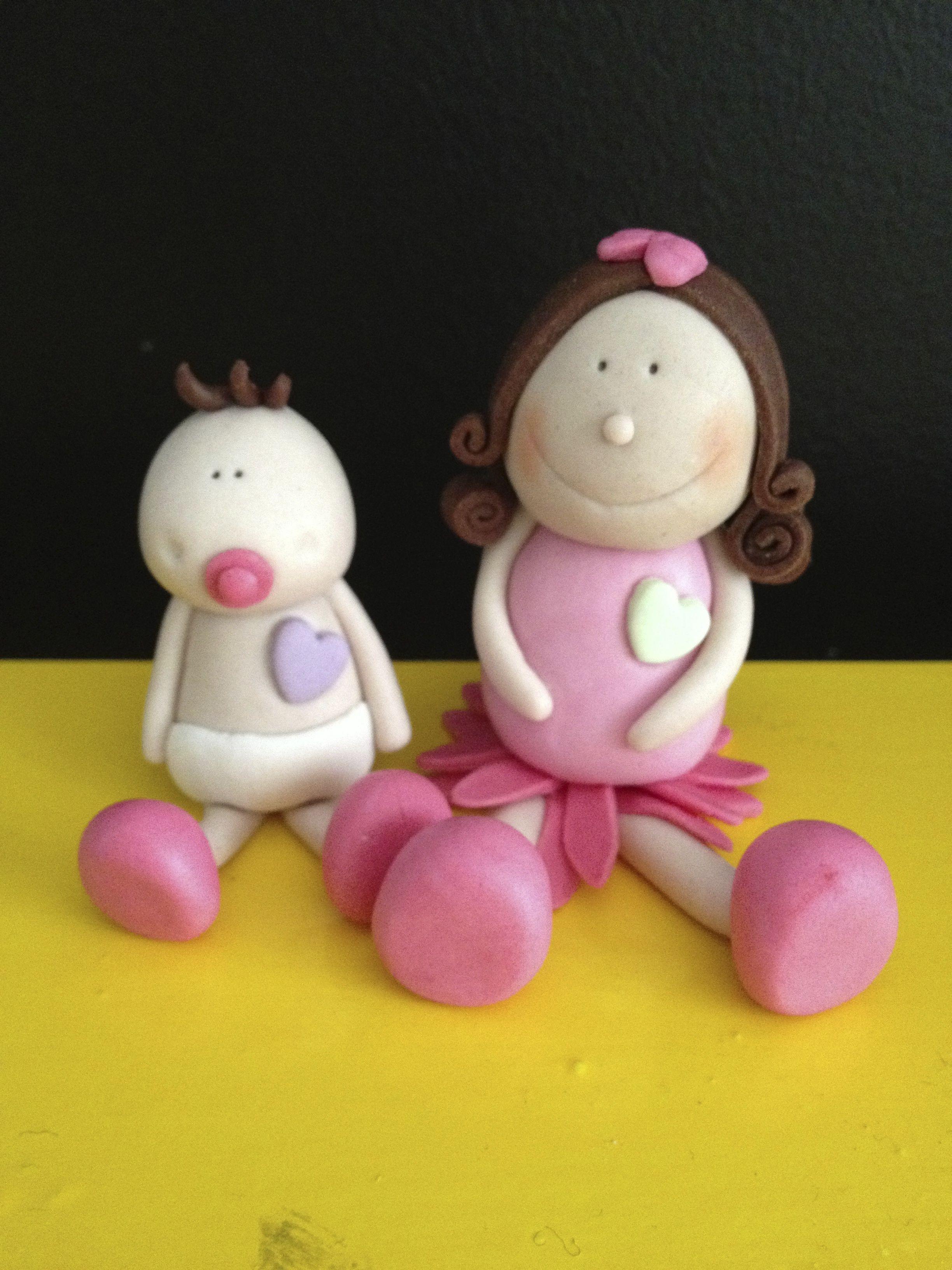 Sugar paste little girls