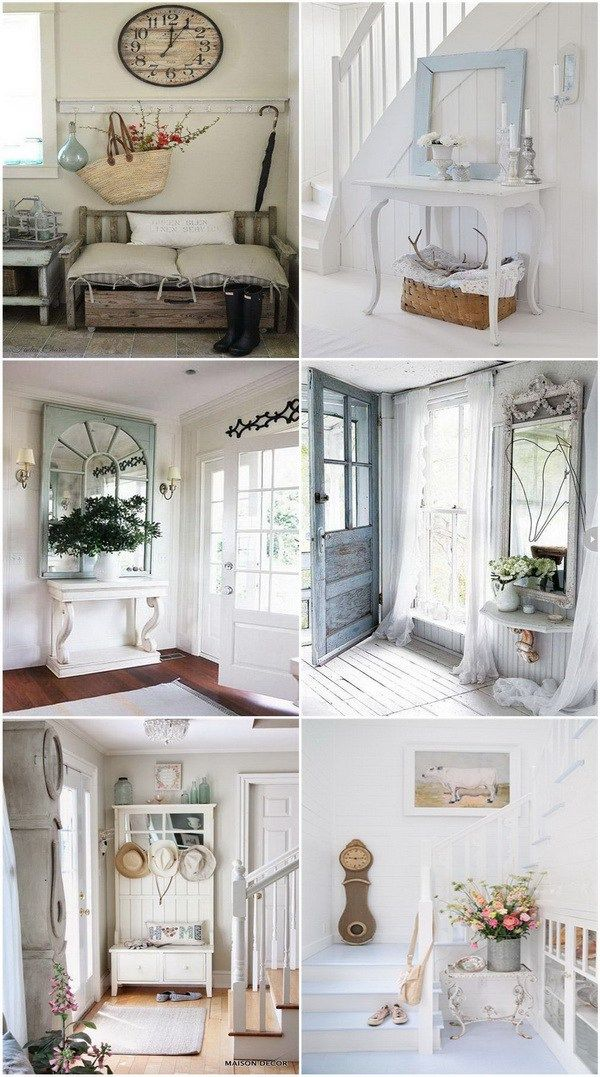 Sweet cottage shabby chic entryway decor ideas ideen f r for Deko ideen eingangsbereich