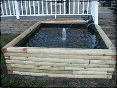 Diy Projects And Ideas For The Home Outside Porches Patios And Yard Outdoor Ponds Landscape Timbers Pond Landscaping