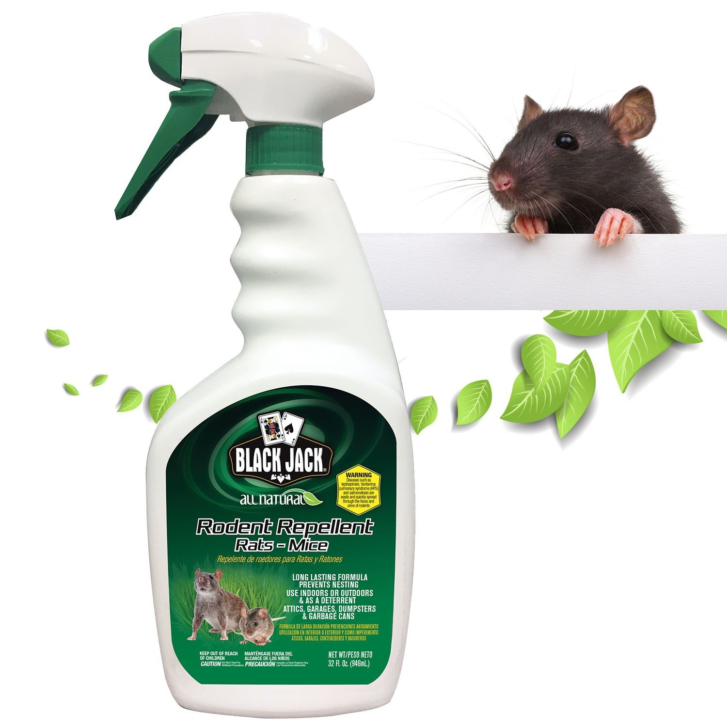Black Jack All Natural Rodent Mice Repellent Peppermint Oil Spray Organic Humane 32oz Discontinued No Longer Available In 2020 Rodent Repellent Mice Repellent Animals For Kids