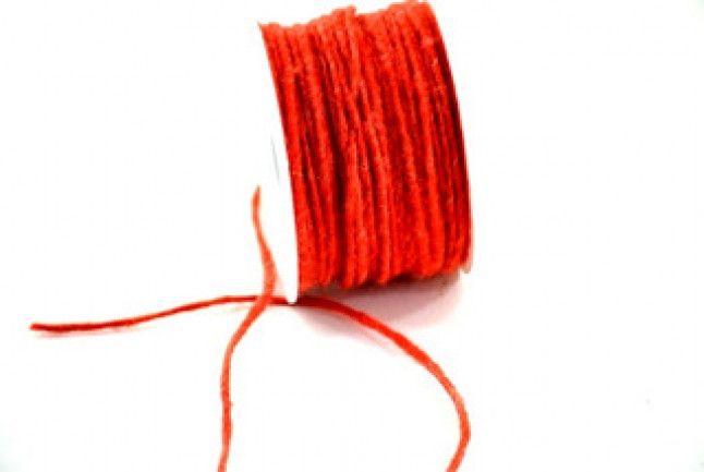Lana cotta & Feltro - Cordone di Lana Arancione mt.40 mm.4 - un prodotto unico di raffasupplies su DaWanda