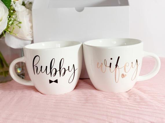 Hubby wifey mugs-hubby wifey cappuccino mugs-hubby wifey gifts-mr Mrs mugs-Engagement mugs-Engagement gifts-personalized mugs-Custom mugs