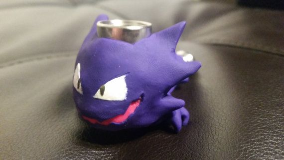 Haunter Pokemon Metal and Clay Pipe by LuapLand on Etsy