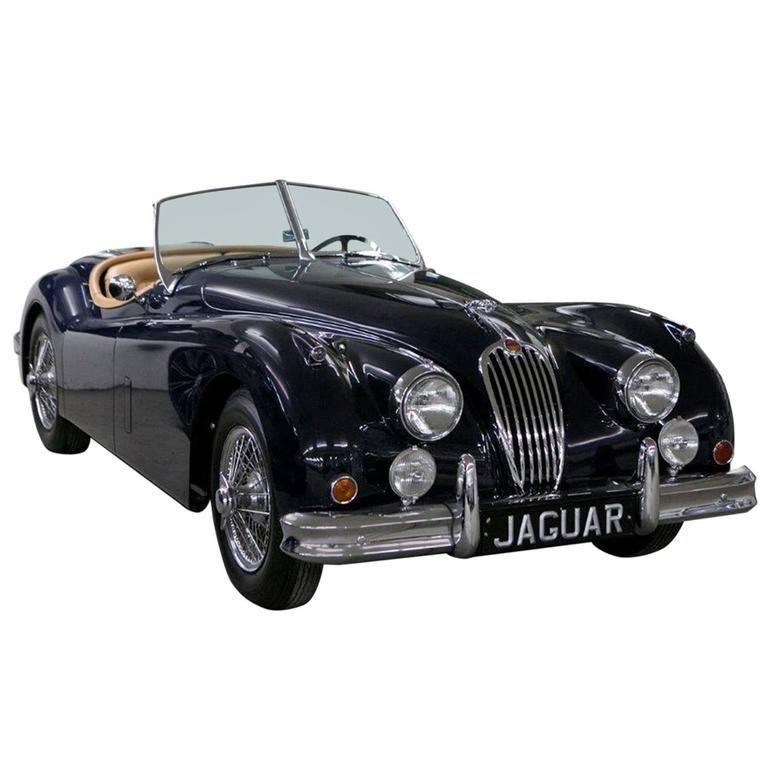 Vintage 1955 Jaguar Xk 140mc Ots Navy Blue Car Jaguar Xk Jaguar Sports Car