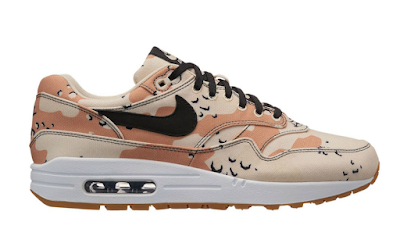 "c315ebd4fb3 EffortlesslyFly.com - Online Footwear Platform for the Culture  Nike Air  Max 1 Premium ""Beach Camo"""