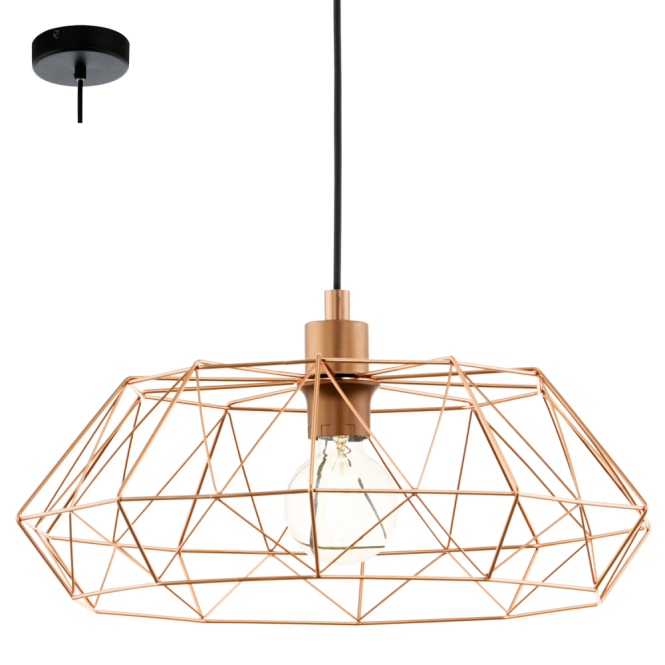 This Is A One Light Ceiling Pendant From The Range By Eglo 49488 Vintage Copper