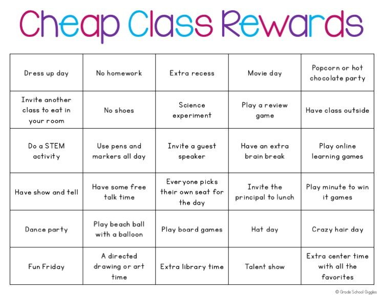 Classroom Reward Ideas For Middle School ~ How to reward your class almost for free classroom