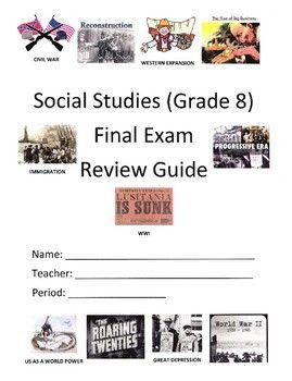 American History (Grade 8) Final Exam Review Packet | Exam ...