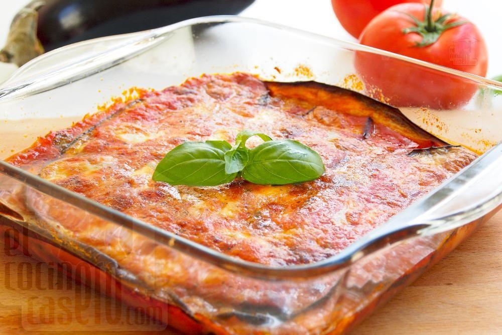 Berenjenas A La Parmesana Receta Berenjena A La Parmesana Salsa De Tomate Casera Recetas Faciles De Comida