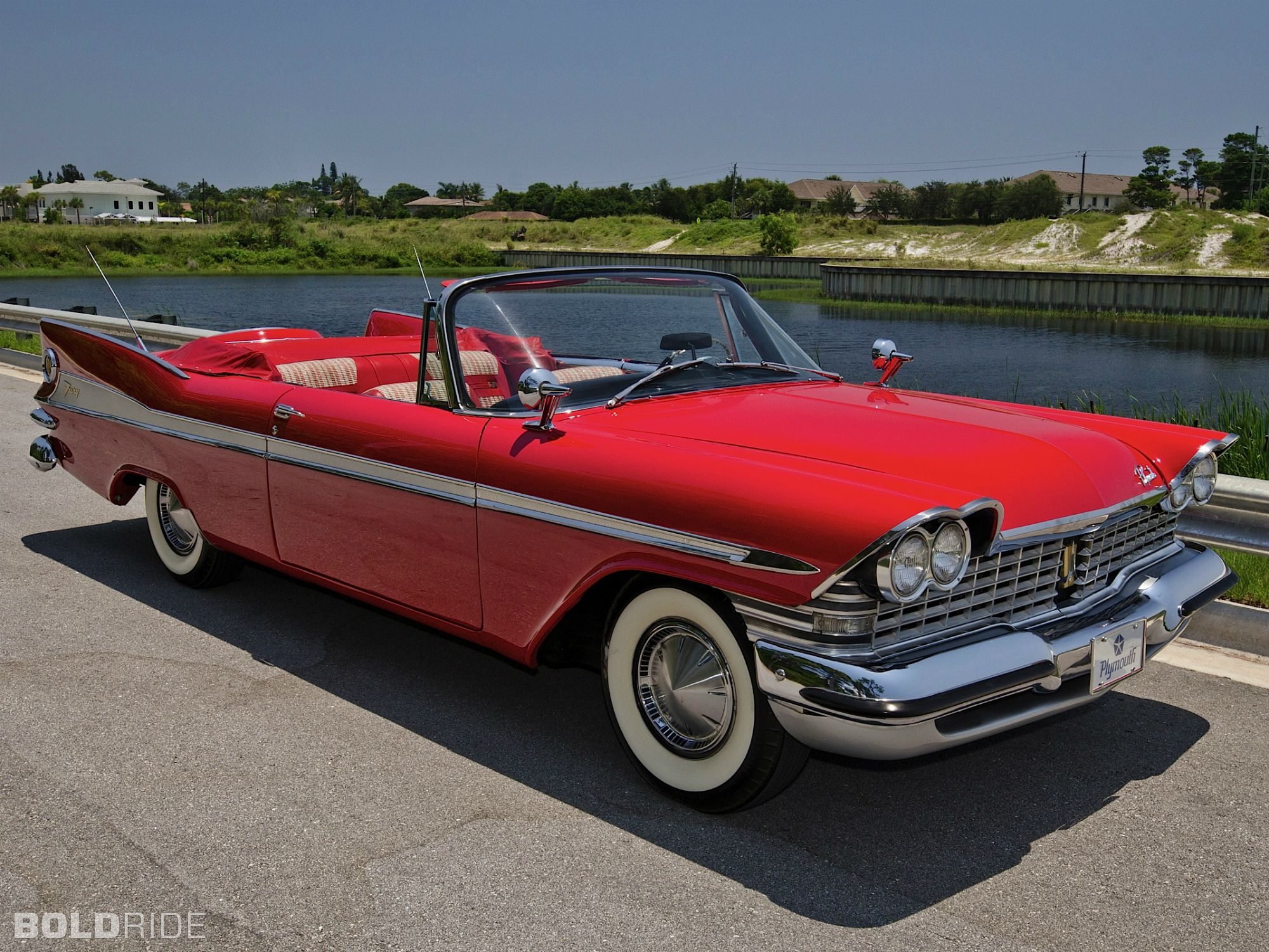 1955 dodge royal lancer convertible cream black fvr cars -  Flame Red 1959 Plymouth Sport Fury Convertible For Sale At Mecum Auctions