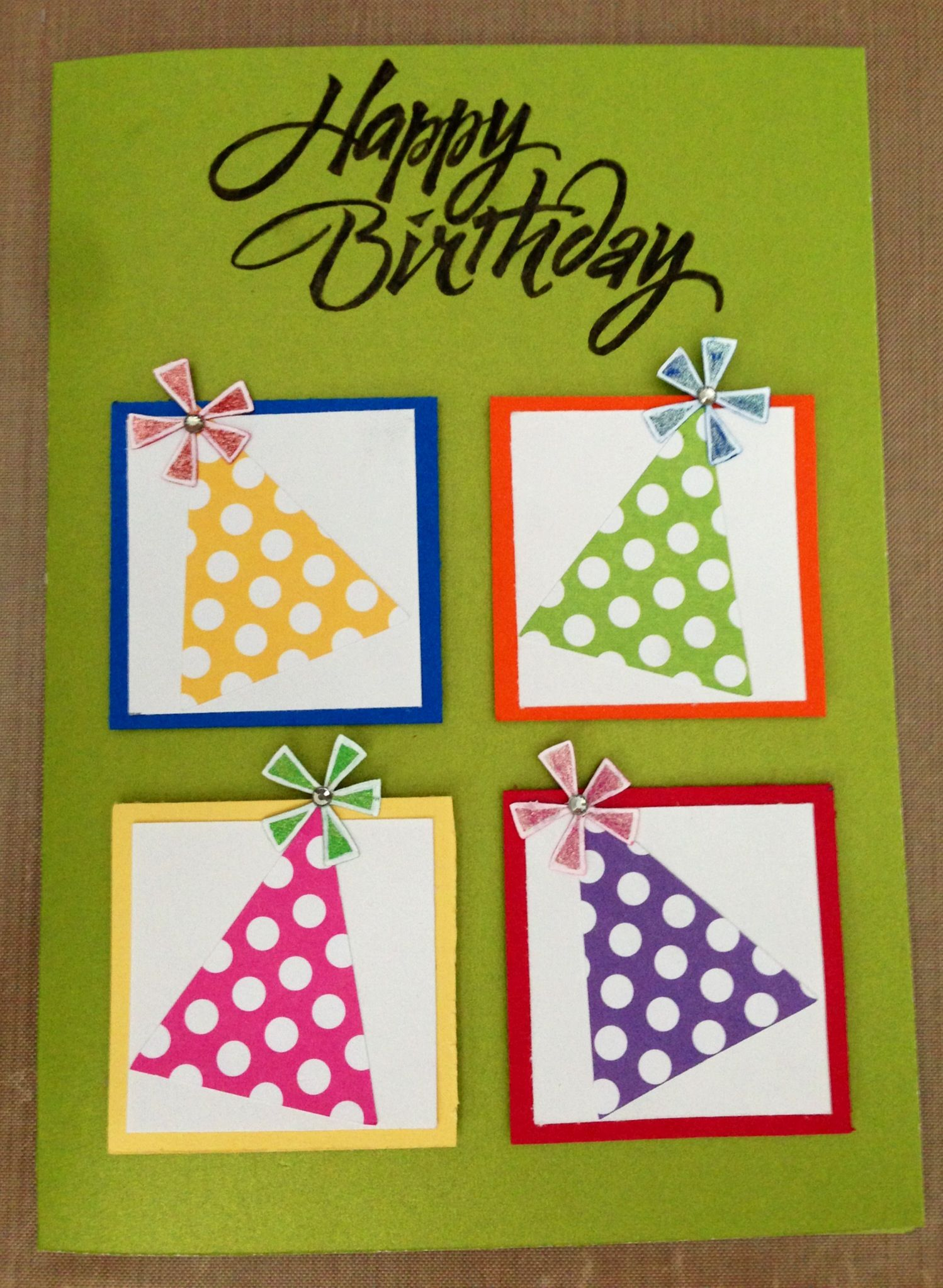 Birthday Card Dosomethingorg Easy CardsCard Ideas BirthdayHappy BirthdayCreative