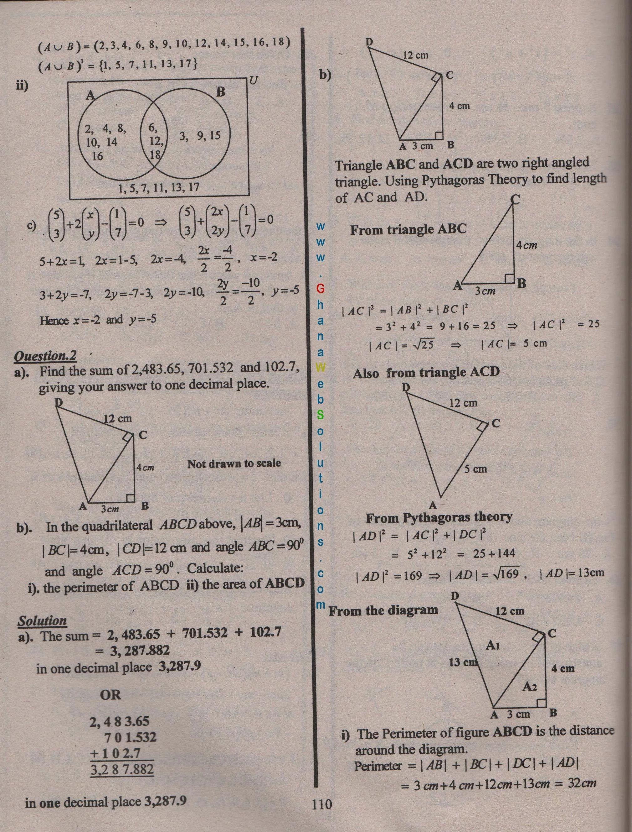 BISE Faisalabad Board Past Papers 2020 Matric, SSC Part 1 ...  |Mathematics Past Paper 2020