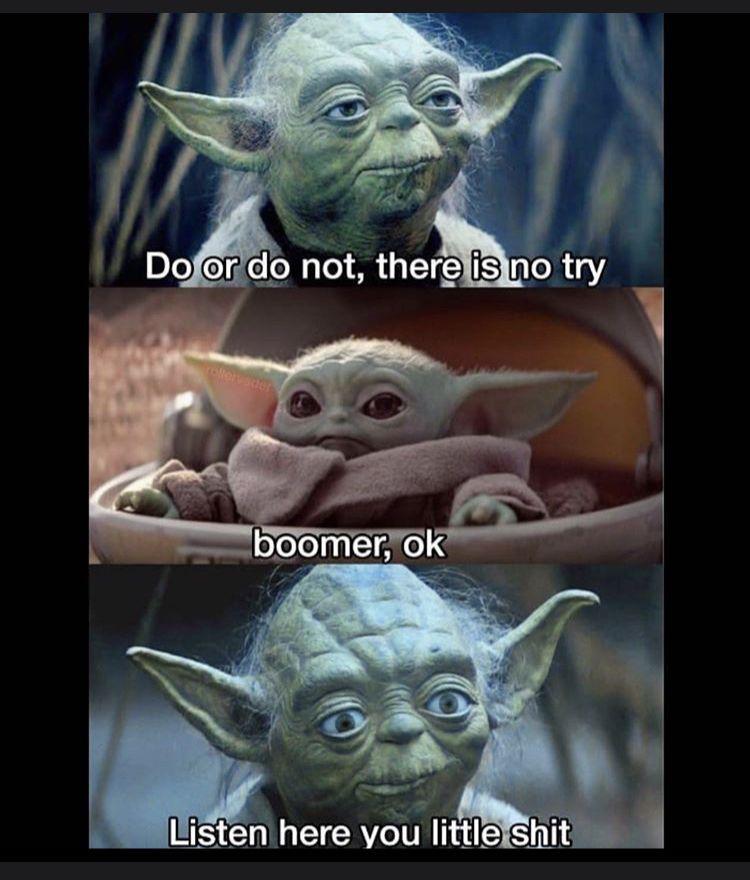 Pin by Kyla Rose on Funny lmaooo in 2020 Yoda meme