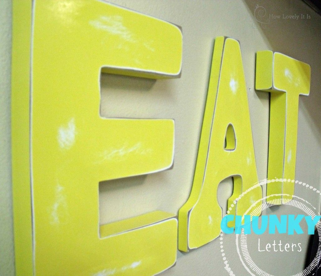 Chunky Wall Letters | Lettering art, Walls and Crafts