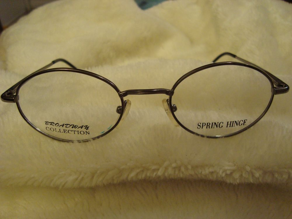 6f5334d395 Broadway Collection Flex Spring Hinge Gunmetal Silver Eyeglasses Frame  40-20-135  BroadwayCollection
