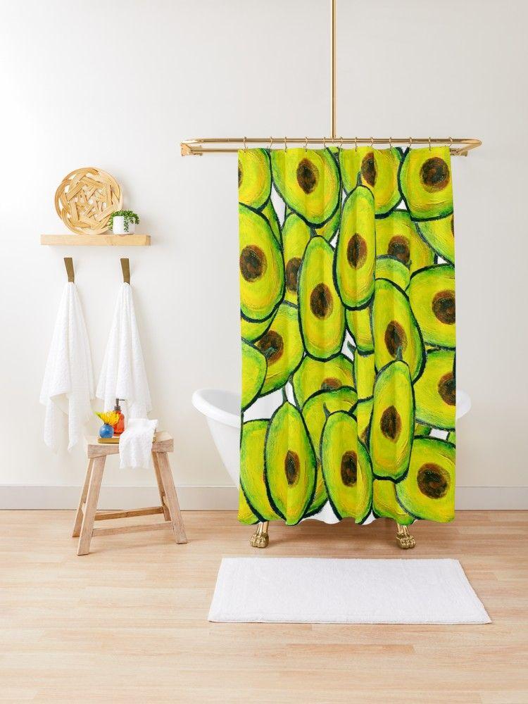 Avocadyou Avocado Slices Of Heaven Shower Curtain By Anoellejay