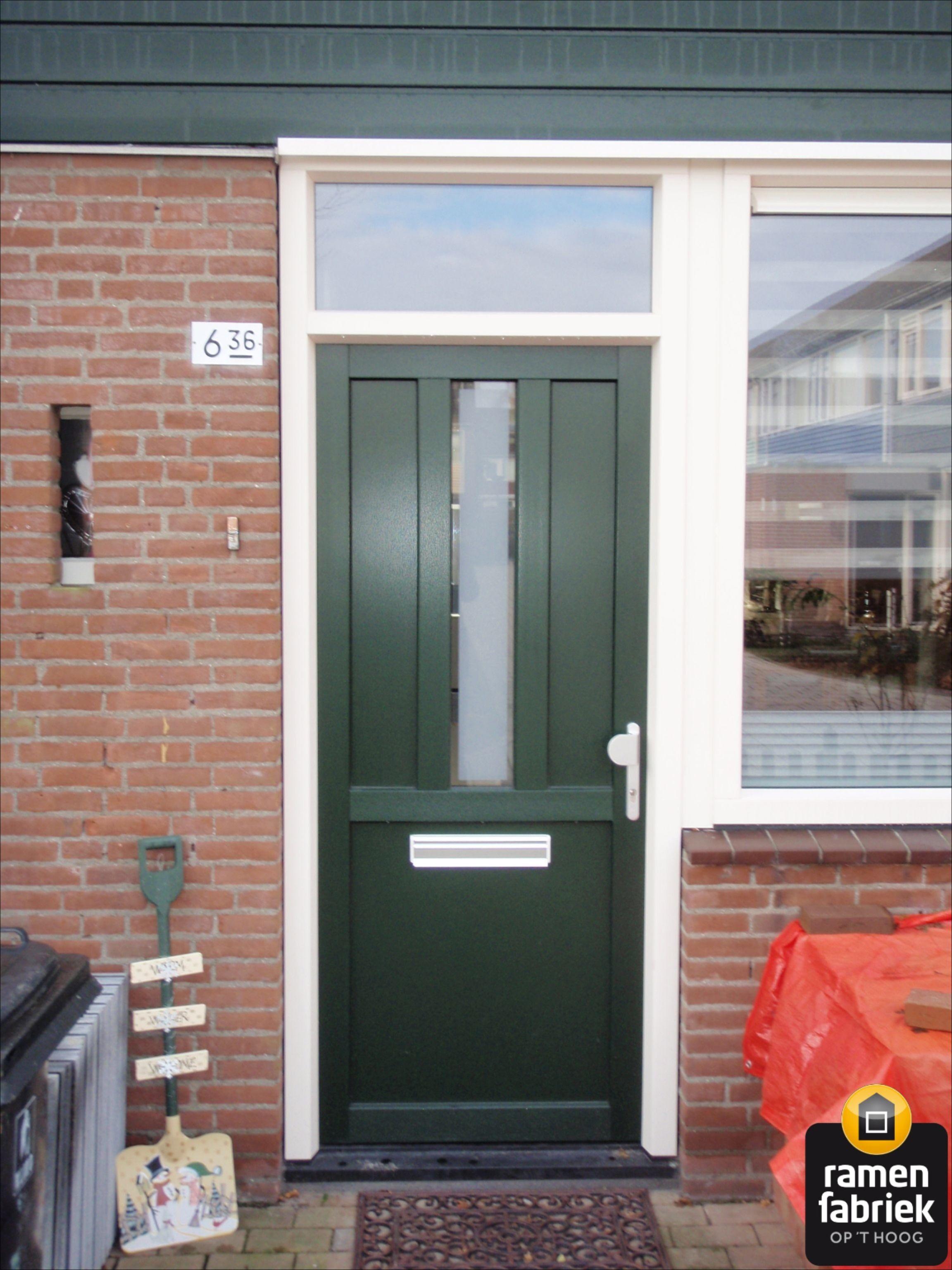 Moderne groene voordeur kunststof