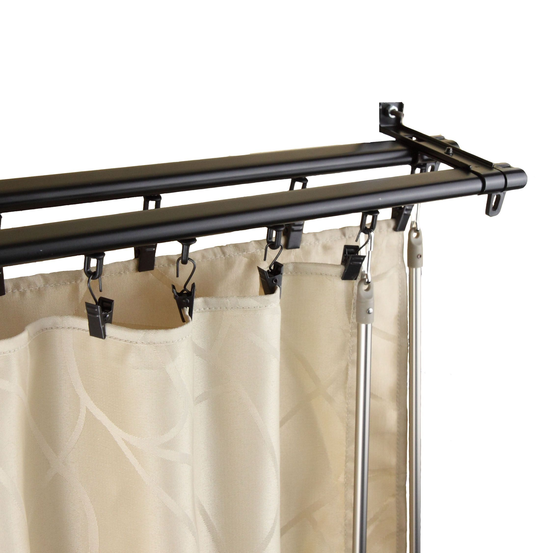 youre design curtain red ideas double favorite hangers rods rod and interior