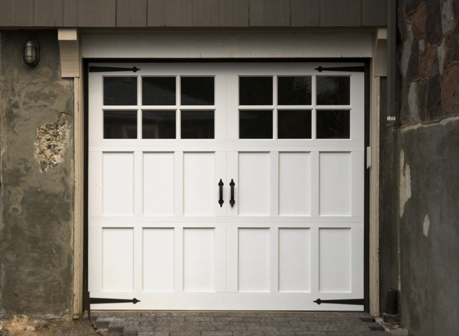 Fabulous S With Clic White Wooden Garage Door Black Gl Design Ideas Automaticgaragedoorstyle