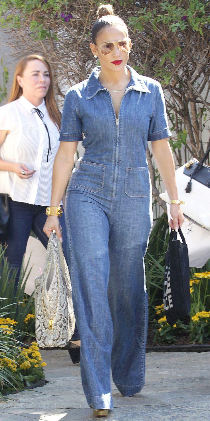 a4c96152ff Jumpsuit J Lo Fashion, Denim Fashion, Womens Fashion, Platform Pumps, Jeans  Jumpsuit