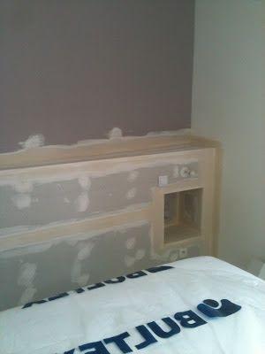 pingl par lisabeth de garrigues sur chambres pinterest t te de lit placo lit et tete de. Black Bedroom Furniture Sets. Home Design Ideas