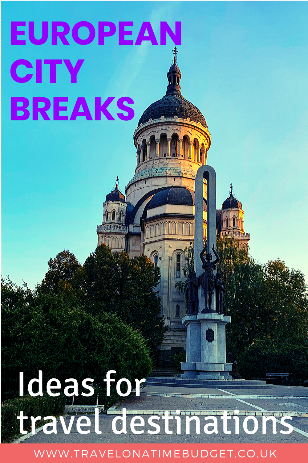 European city breaks: ideas for travel destinations. If you're thinking about a short break to Europe or a European weekend away, there are many places to consider. My post outlines some European short breaks and European city breaks you'll love, including to Italy's Verona, the Alhambra in Spain, and Cluj-Napoca in Romania. Read my post for ideas for European short breaks you'll love. #europe #europetravel #travel #shortbreaks #europecitybreaks