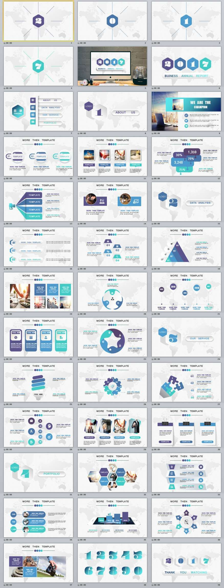 35 multicolor annual report PowerPoint templatesThe highest quality PowerPoint Templates and Keynote Templates download