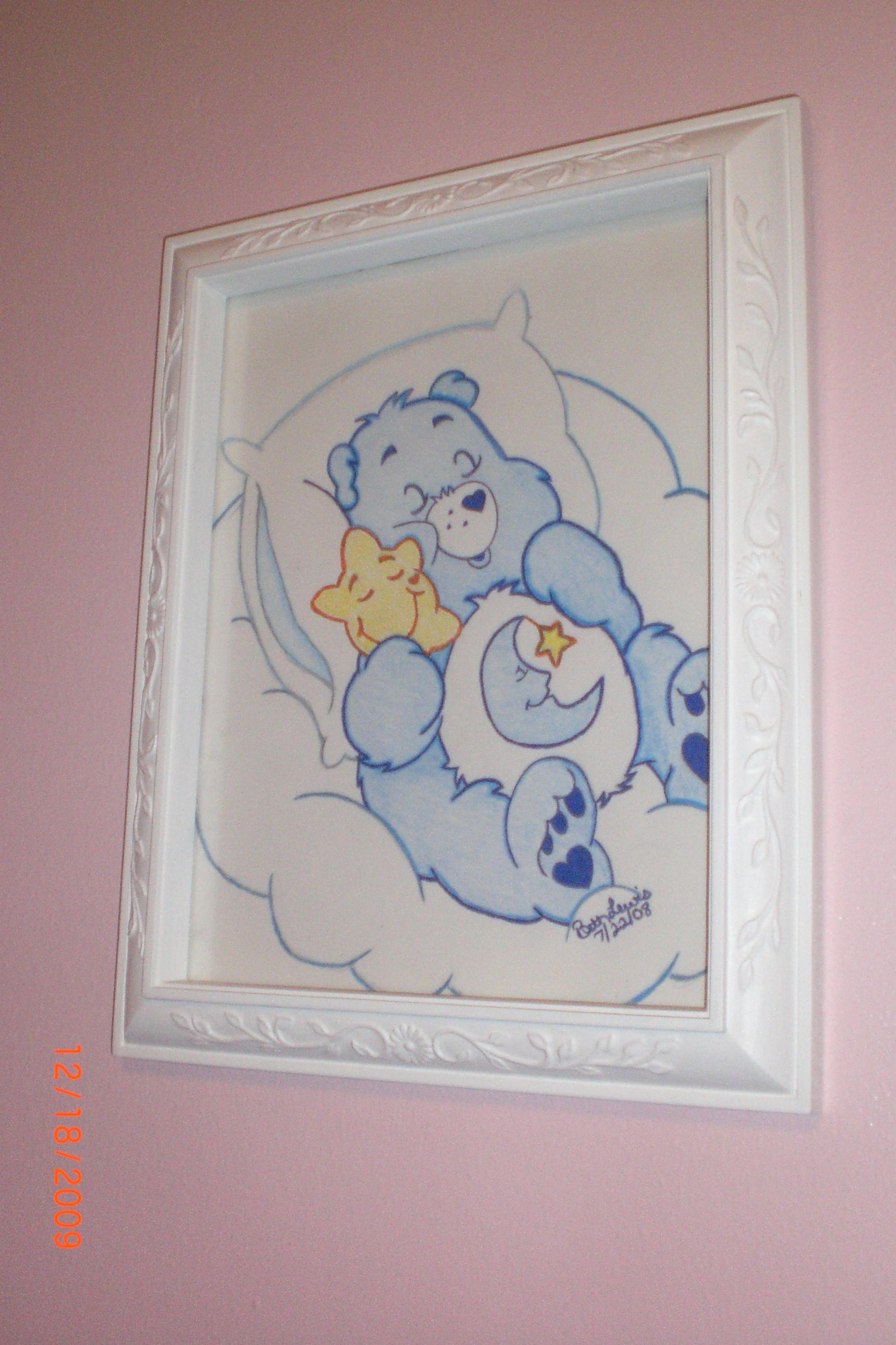 Care Bears I Drew For Daughter's Bedroom.