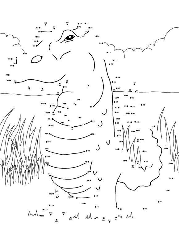 points a relier de crocodile - Points A Relier