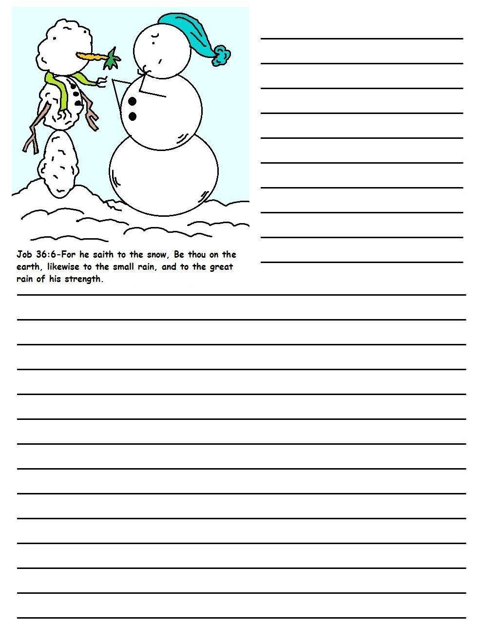 Christmas Snowman Printable Writing Paper   Writing paper ...