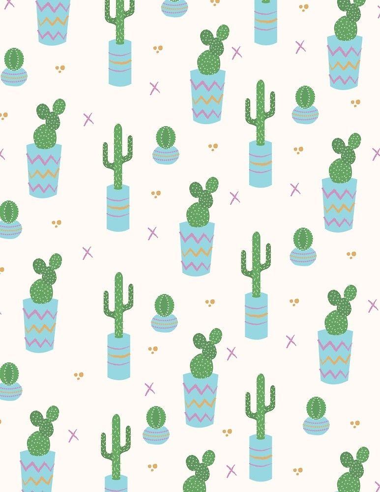 Cute Cactus Pattern By Amandaanderson Iphone Wallpaper Iphone Wallpaper Cactus Prints Pattern Wallpaper