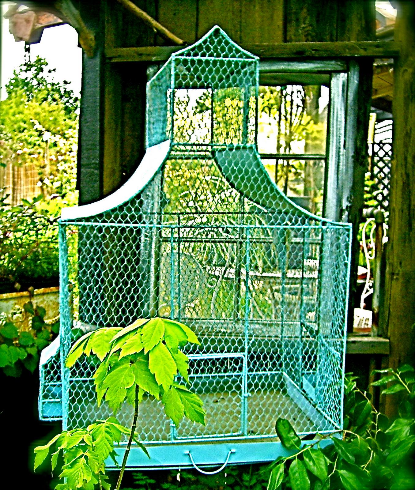 Photo of Turquoise Balcony B Balcony chairs Garden swing Fence Pots Shutters Hammock Gard…