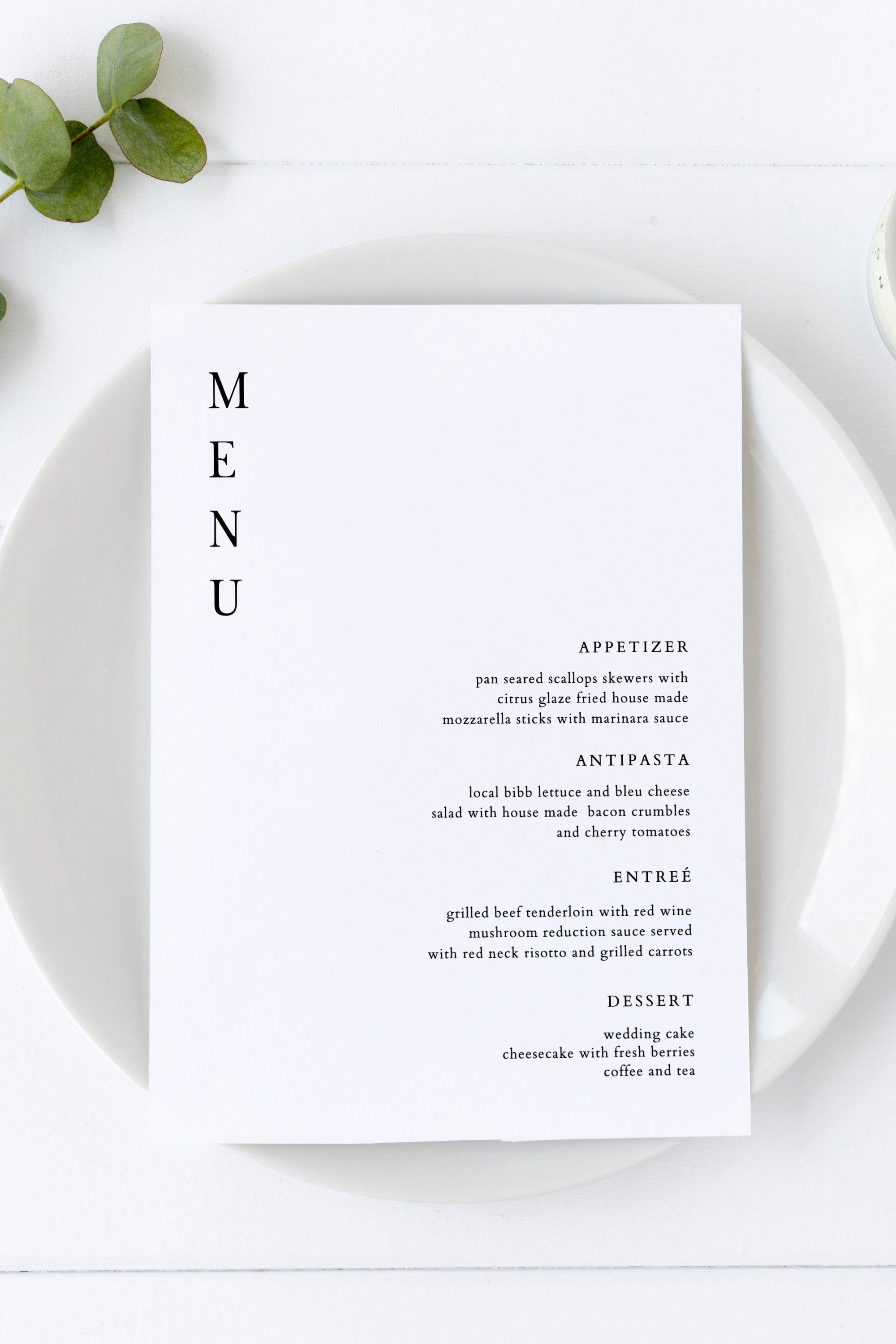 Harper Modern Wedding Menu Template Simple Menu Cards Black And White Menu Cards Printable Menu Cards Menu Template 5x7 Instant Menu Printable Wedding Menu Wedding Menu Template Menu Template