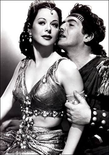 Hedy Lamarr  & Victor Mature in,  Samson and Delilah - costume by Edith Head