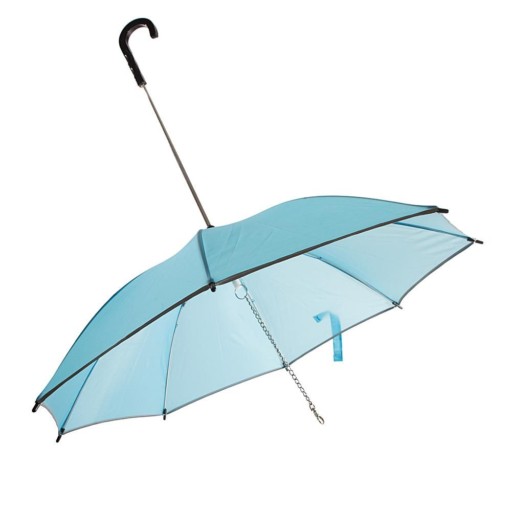 Pet life pet leash umbrella blue pet life and products