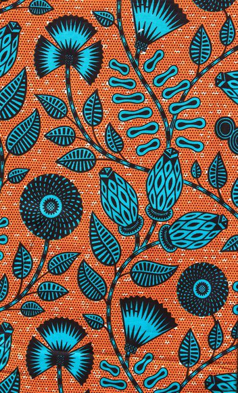 tissu africain fleur