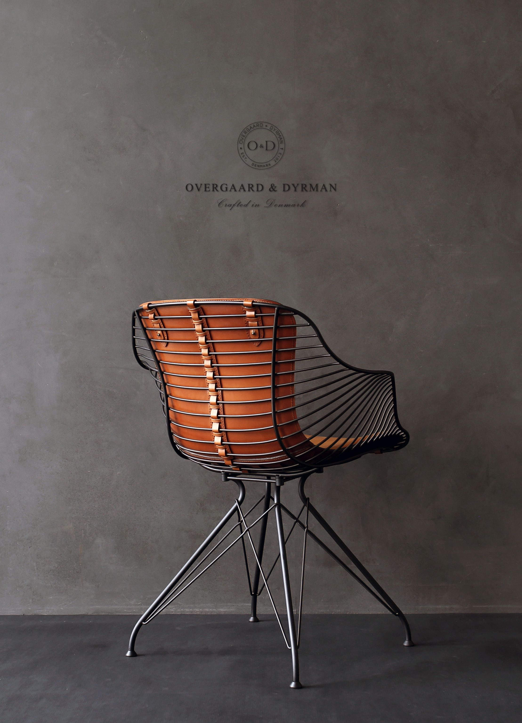 Wire Dining Chair. Leather work meets steel. Craftsmanship made in ...