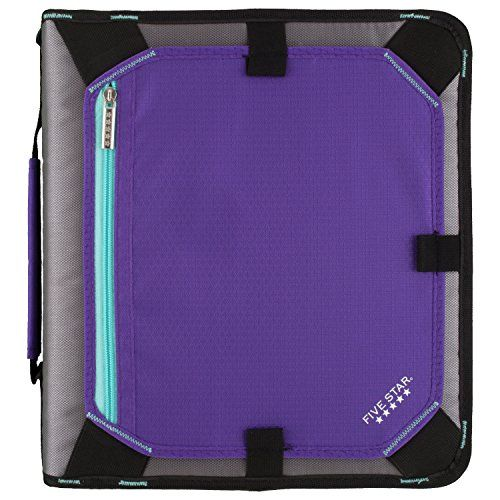 Five Star 2 Inch Zipper Binder, Expansion Panel, Durable