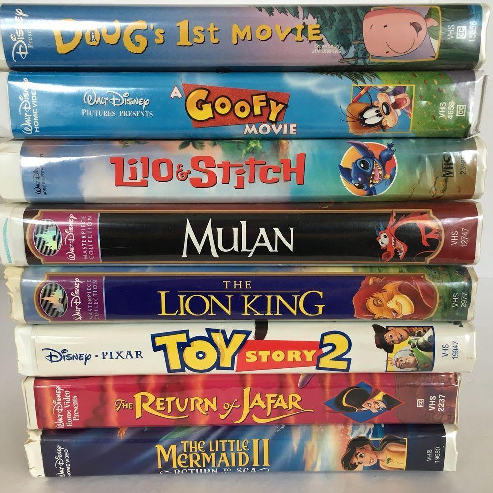 Doug Christmas Story Vhs.Disney Clam Case Vhs Lot Mulan Toy Story 2 Lilo Stitch Doug