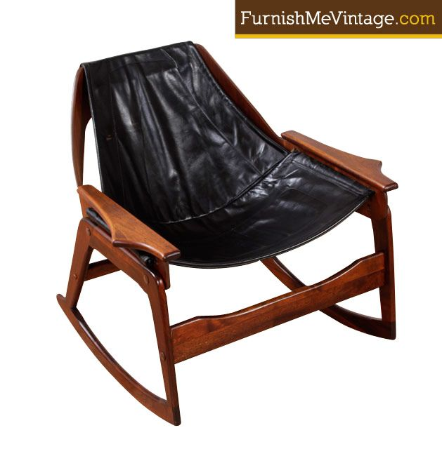 Mid Century Modern Jerry Johnson Rocking Sling Chair