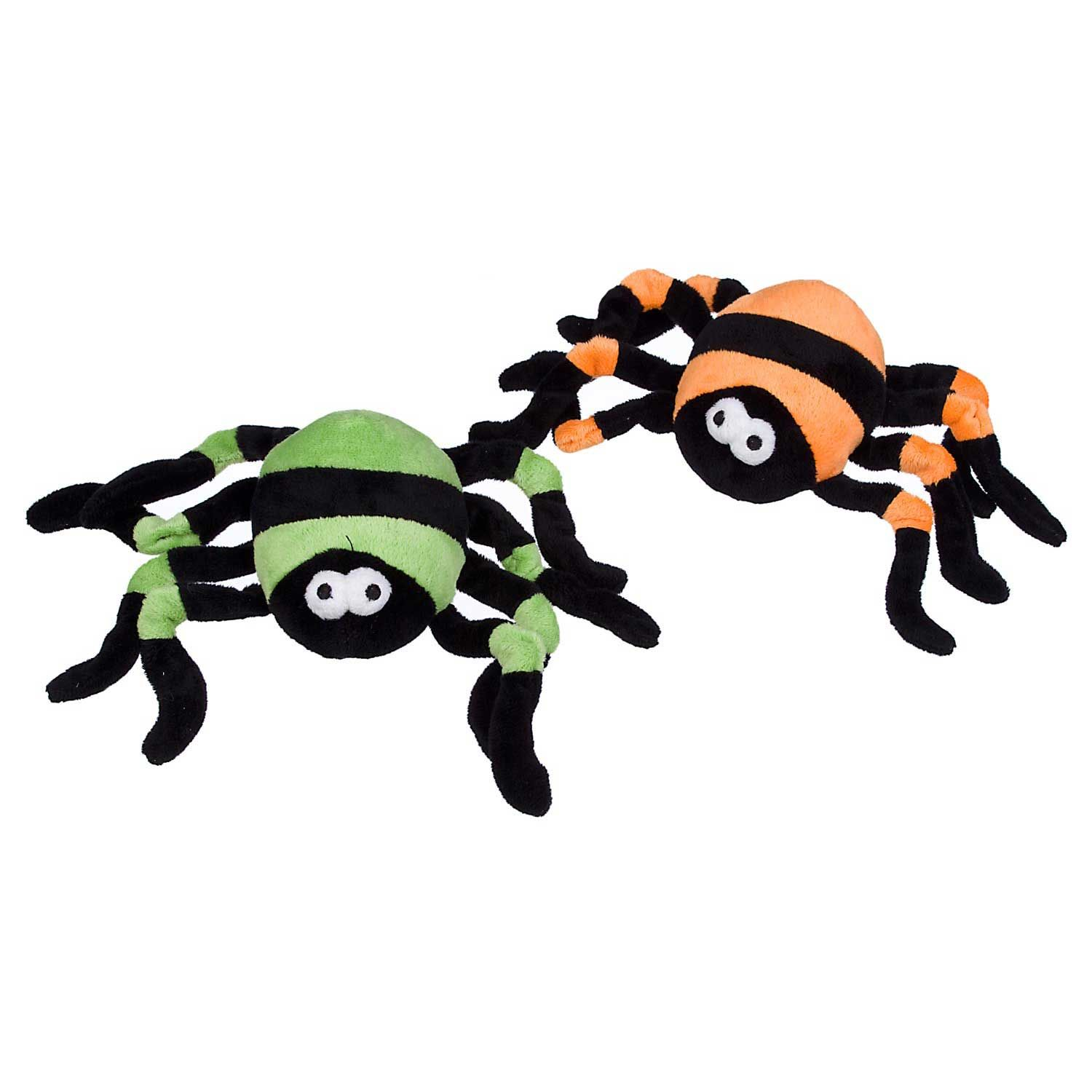 Petco Halloween Striped Spider Plush Dog Toy Love These They