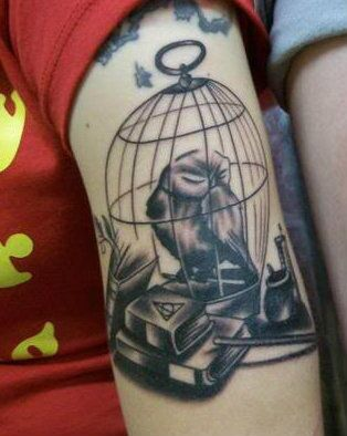 harry potter owl tattoo this is one of the best hp tats i 39 ve seen i need more. Black Bedroom Furniture Sets. Home Design Ideas