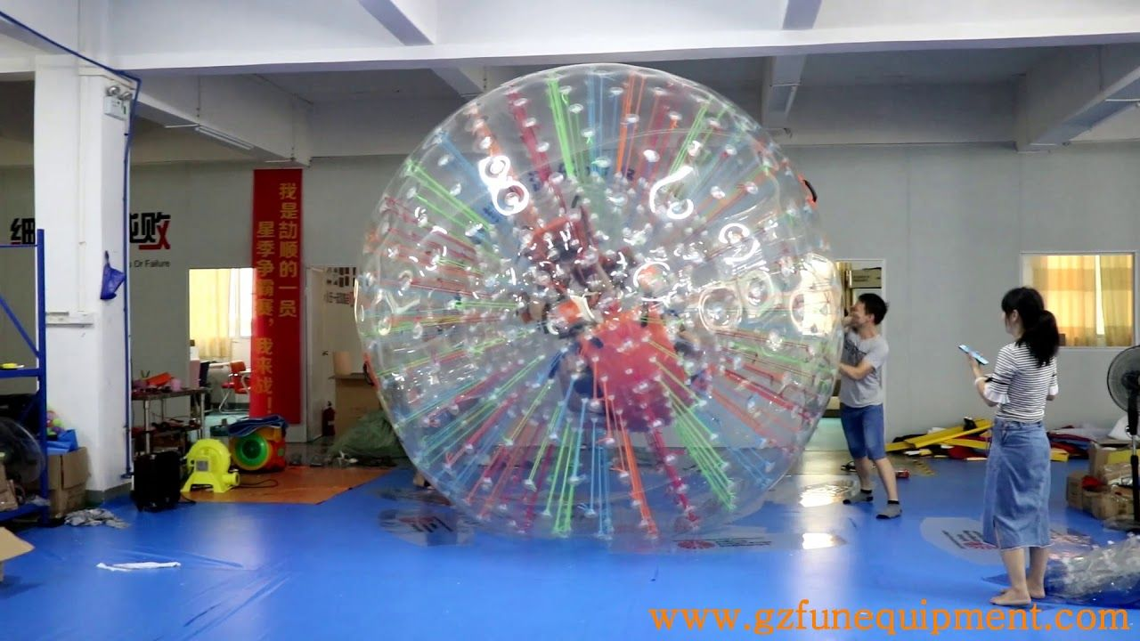 Double Entrance With Harnesses Clear Inflatable Zorb Ball Manufacturer Inflatable Giant Inflatable Ball
