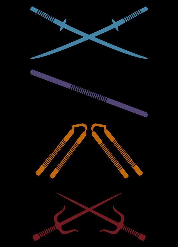 leonardo the katanas swords raphael the duel sais mini swords